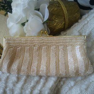 VINTAGE Inspire CARLO FELLINI BEADED Bag Oh MY!